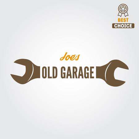 Element für Mechaniker, Garage, Autoreparatur und Autoservice