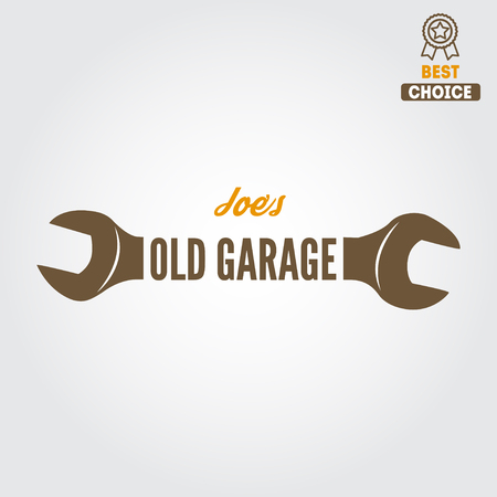 insignias: elemento para el mec�nico, garaje, reparaci�n de autom�viles y auto servicio Vectores