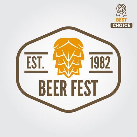 brew: Vintage logo or logotype design element for beer, beer shop, home brew, tavern, bar, cafe and restaurant
