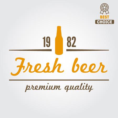brew: Vintage design element for beer, beer shop, home brew, tavern, bar, cafe and restaurant