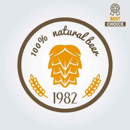 brewery  hops: Vintage  design element for beer, beer shop, home brew, tavern, bar, cafe and restaurant