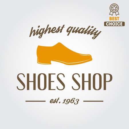Vintage elements for shoemaker, shoes shop and shoes repair