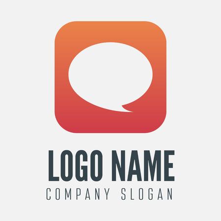 logo informatique: Logo ou logotype élément avec bulle pour les affaires, société ou web