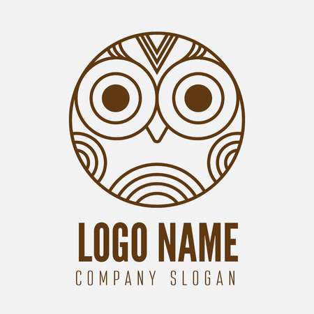 element with owl for business, corporation or web