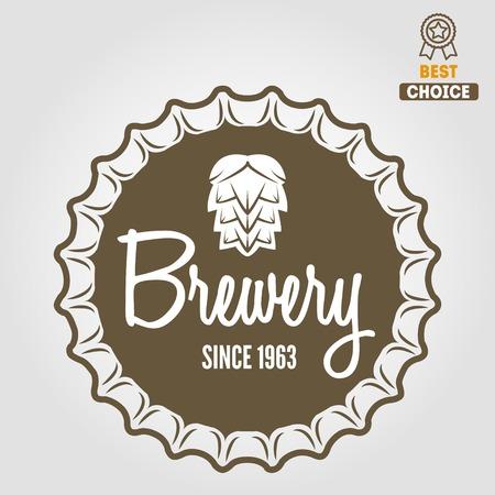 ビール、ビール店、自家製、居酒屋、バー、カフェ、レストランのためのヴィンテージのロゴやロゴタイプの要素のセット