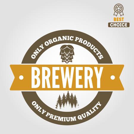 Set of vintage logo or logotype elements for beer, beer shop, home brew, tavern, bar, cafe and restaurant