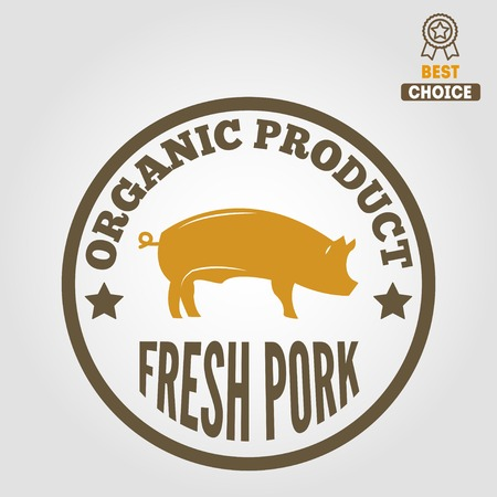 carnicería: Etiquetas del vintage, plantillas emblema de carnicería carnicería
