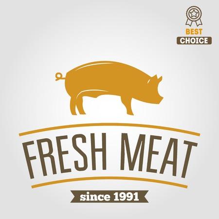 carnicer�a: Etiquetas del vintage, plantillas emblema de carnicer�a carnicer�a