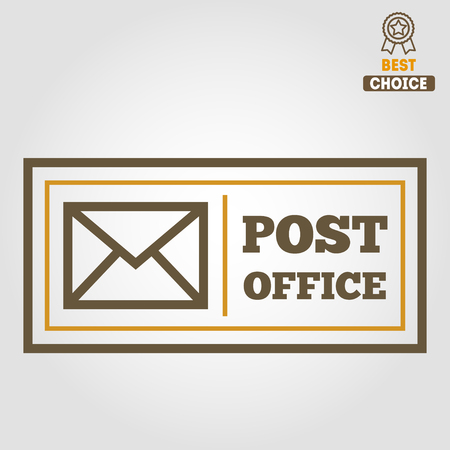 post office: Vintage logo or logotype elements for post office or other design Illustration