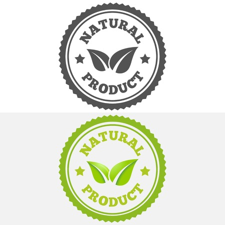 best quality: Logo or logotype elements with leafs for web, business or natural products