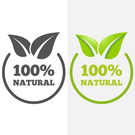 Logo or logotype elements with leafs for web, business or natural products