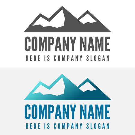 summit: Logo or logotype elements with mountains for web, business or other projects Illustration