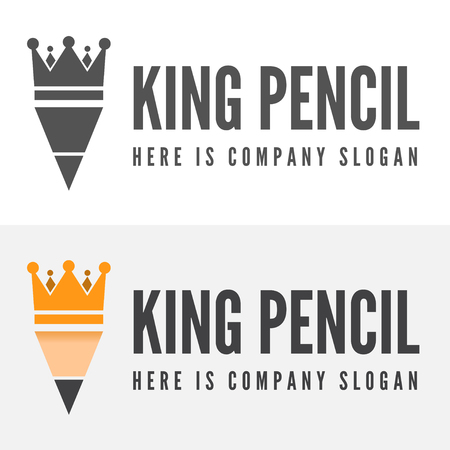 modern architecture: Logo or logotype elements with pencil for web, business or other projects Illustration