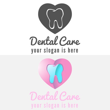 dental assistant: Logo or logotype elements with mountains for web, business or clinic Illustration