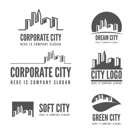 house work: Logo or logotype elements with buildings for web, business or other projects