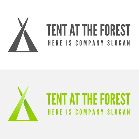 Modern camp logo and logotype elements for camping, web, business or other projects Ilustrace