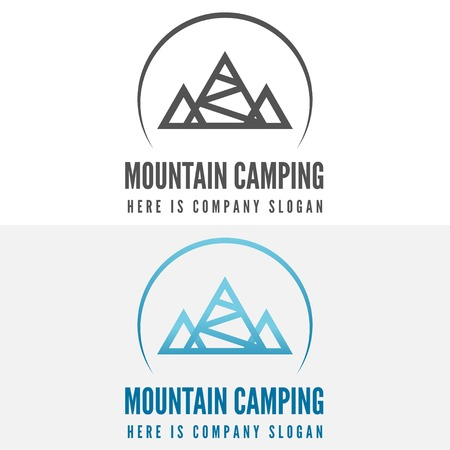 mountaineering: Modern camp logo and logotype elements for camping, web, business or other projects Illustration