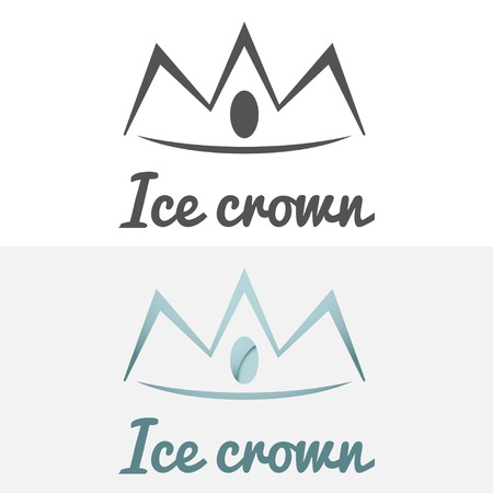 crown logo: Set of logo and logotype elements for jewelry, web, business corporate identity and other design