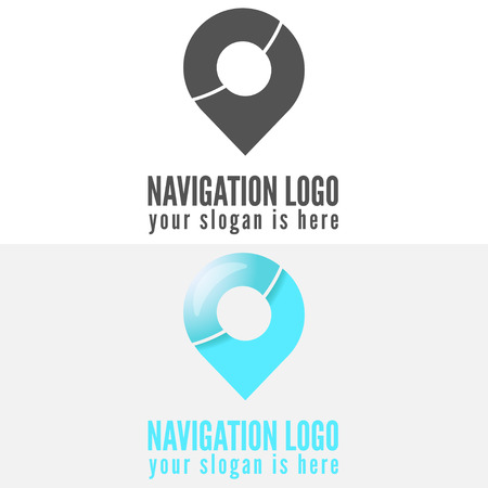 navigator: Logo or logotype elements for navigation, map, web, business compass and other design Illustration