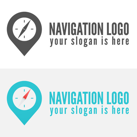 Logo or logotype elements for navigation, map, web, business compass and other design Stock Illustratie