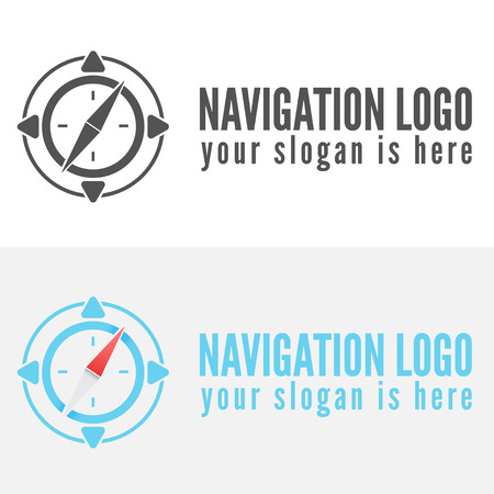Logo or logotype elements for navigation, map, web, business compass and other design Ilustrace