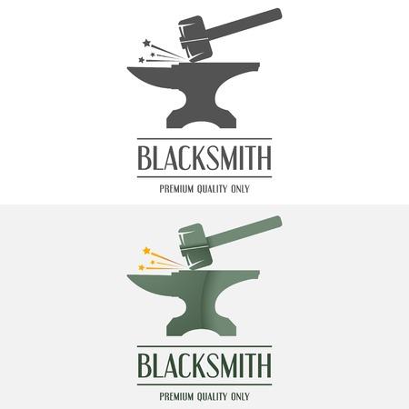 blacksmith: Set of logo and logotype elements for blacksmith