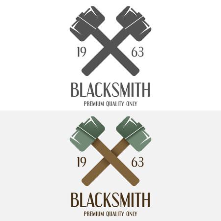 foundry: Set of logo and logotype elements for blacksmith