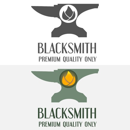 Set of logo and logotype elements for blacksmith