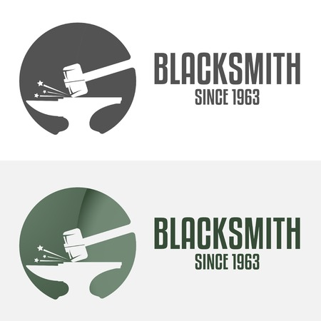 Set of logo and logotype elements for blacksmith