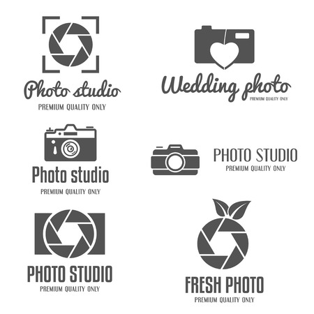 photography logo: Set of vintage and modern logo and logotype elements