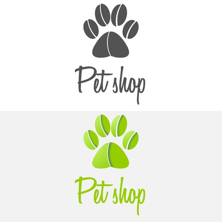 pets icon: Set of vintage and modern logo and elements for pet shop, pet house and pet clinic