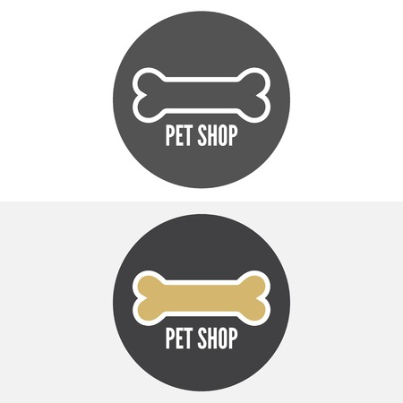 retro badge: Set of vintage and modern logo and elements for pet shop, pet house and pet clinic
