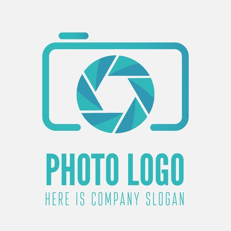 Logo or logotype element for photo studio or photographer Stock Illustratie