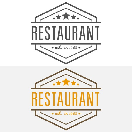 elements for restaurant, cafe, cafeteria, bar or company Stock Illustratie