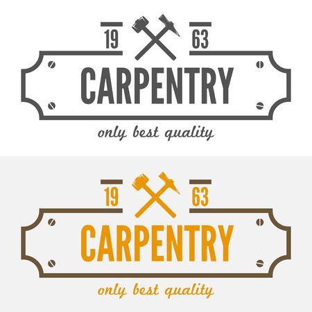 carpintero: elementos para el aserradero, carpintería y trabajadores de la madera
