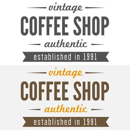 cafeteria: templates of coffee shop, cafe, cafeteria, bar or restaurant Illustration