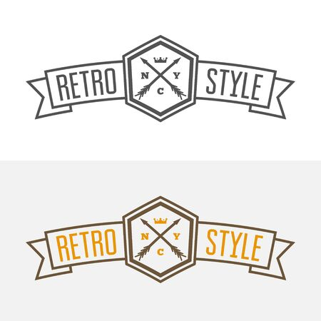 business sign: Vintage Insignia or Vector design element, business sign template with arrows