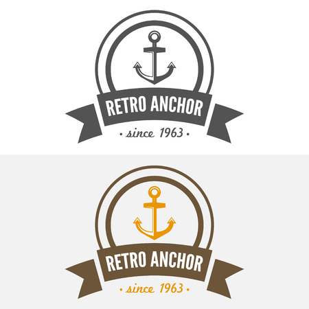 business sign: Vintage Insignia or Vector design element, business sign template with anchor