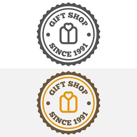 corporate gift: Vintage , label, badge and elements for gift shop, jewelry, corporate or company