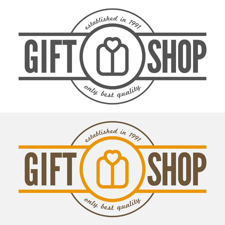 Vintage , label, badge and  elements for gift shop, jewelry, corporate or company