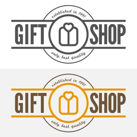 store: Vintage, etichetta, badge e elementi per negozio di articoli da regalo, gioielli, società o società Vettoriali