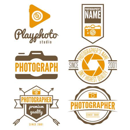 photographer: Set of logo or logotype elements for studio or photographer