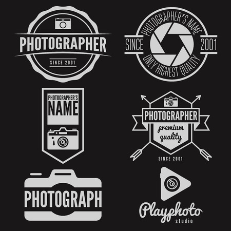 Set of logo or logotype elements for studio or photographer