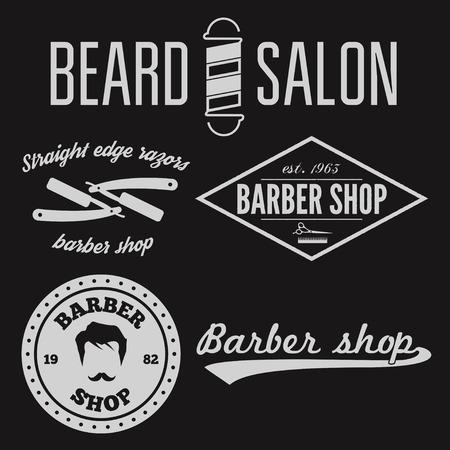 barber shop: Set of vintage barber shop  and design element