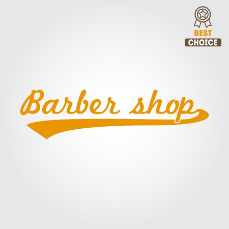 groomed: Vintage barber shop and design element Illustration