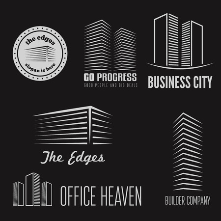 construction icons: elements for building company or business