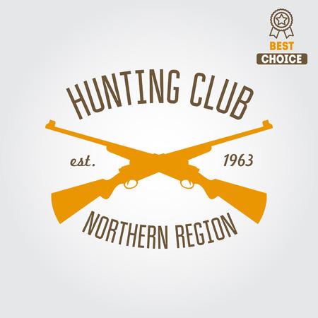 seal gun: Logo or logotype elements for hunting club, shooting club