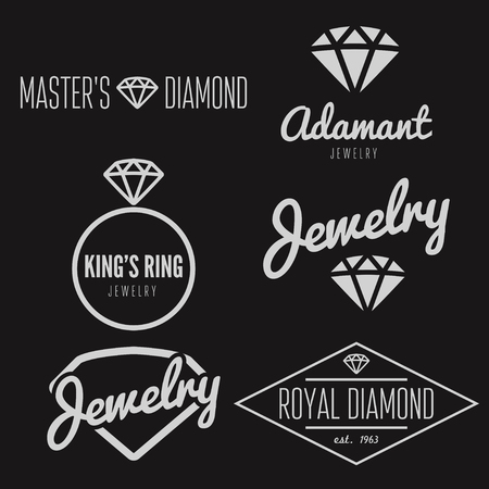 king master: Set of logo or logotype elements for jewelry