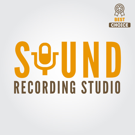 recording studio: Logo and logotype elements for recording studio or sound production