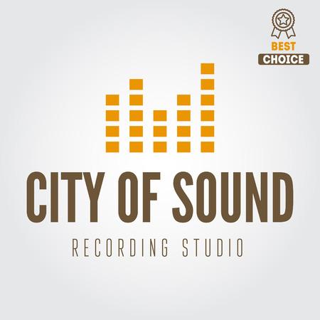 recording studio: Logo en logo elementen voor opname studio of geluidsproductie